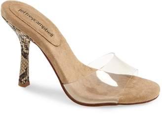 Jeffrey Campbell NC17 Clear Stiletto Slide Sandal