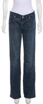 7 For All Mankind Low-Rise Wide-Leg Jeans