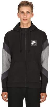 Nike Logo Zip-Up Sweatshirt Hoodie