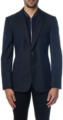 Alexander McQueen Blue Wool Single Breasteds Lined Jacket