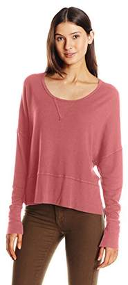LAmade Women's Long Sleeve Boxy Top Side Slits