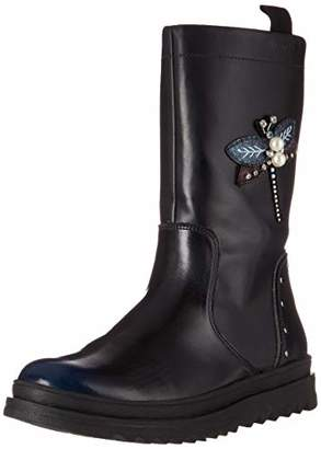 Geox Gilly Jaw Girl 3 Lug Sole Tall Boot with Warm Lining Mid Calf