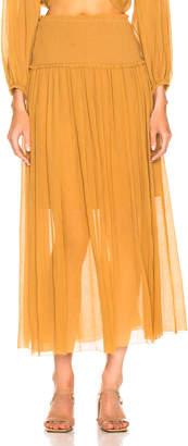 Zimmermann Wayfarer Crinkle Skirt in Mustard | FWRD