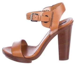 Ralph Lauren Purple Label Leather Platform Sandals