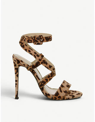 Office Hampstead leopard print faux-leather crossover strap sandals