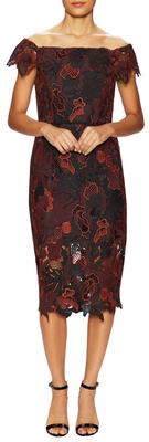 ABS By Allen SchwartzEverest Lace Off Shoulder Sheath Dress