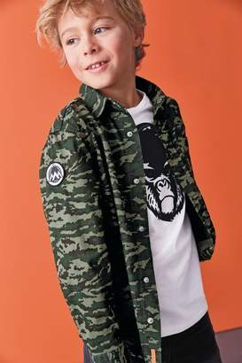 Next Boys Camouflage Shirt And T-Shirt Set (3-16yrs) - Green
