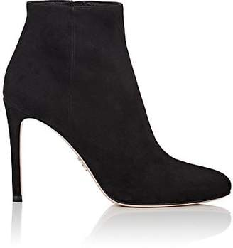 Prada Women's Suede Ankle Boots - Nero
