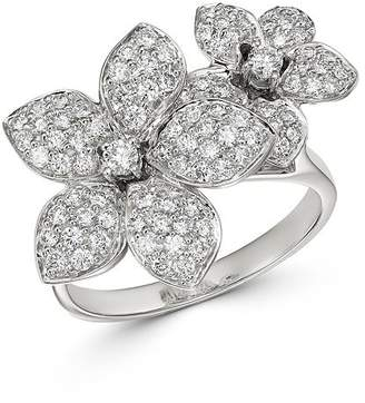 Bloomingdale's Pave Diamond Flower Ring in 14K White Gold, 1.0 ct. t.w. - 100% Exclusive
