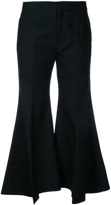 Irene wide-leg flared trousers