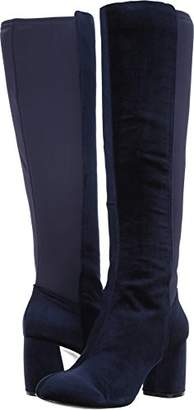 Nine West Women's KNOWONE Knee High Boot Navy Fabric