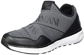Armani Jeans Men's Knit Logo Elastic Band Sneaker
