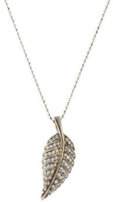 Jennifer Meyer 14K Diamond Small Leaf Pendant Necklace