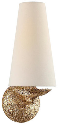 AERIN Fontaine Single Sconce - Gilded Plaster