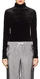 Taverniti So Ben Unravel Project Women's Velvet Turtleneck Bodysuit - Black