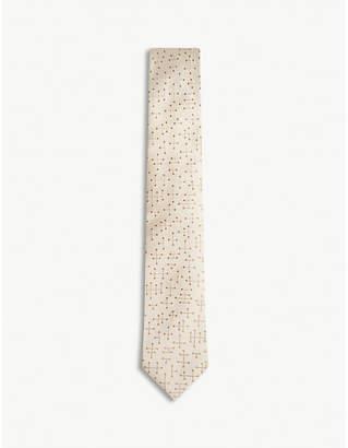Richard James Molecule-print silk tie