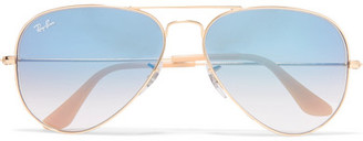 Ray-Ban - Aviator Gold-tone Sunglasses $165 thestylecure.com