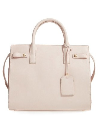 Sole Society Athenia Faux Leather Satchel - Ivory $59.95 thestylecure.com
