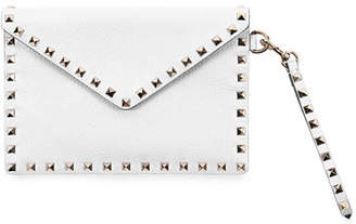 Valentino Rockstud Envelope Flap Wristlet Pouch