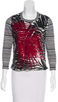 Marc Jacobs Long Sleeve Sequin Top