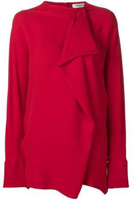 Valentino maxi ruffle blouse