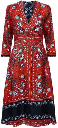 Sandro Silk Midi Dress