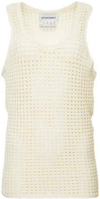SITUATIONIST Handmade Open Knit Wool Tank