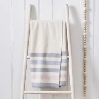 The White Company Cashmere Stripe Baby Blanket, Natural, One Size
