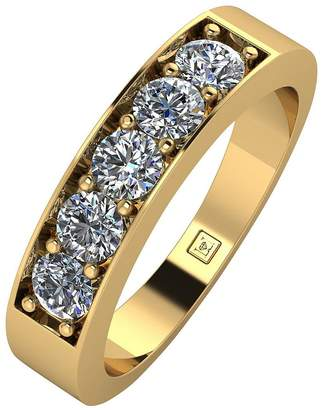 Moissanite Premier Collection 9ct Gold 1ct Total Eternity Ring