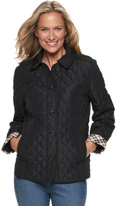 Croft & Barrow Women's Quilted Button-Front Jacket