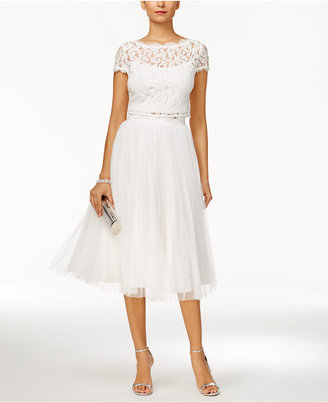 Adrianna Papell 2-Pc. Lace Tulle A-Line Dress $249 thestylecure.com