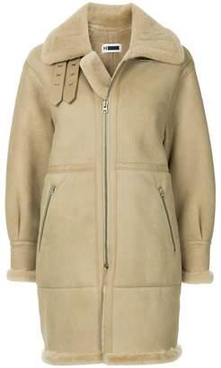 H Beauty&Youth zipped biker coat
