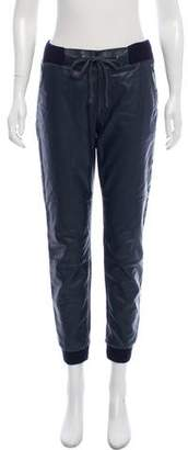 Mother Faux-Leather Jogger Pants