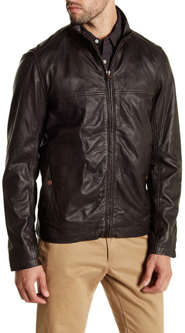 TimberlandTimberland Mount Major Genuine Leather Bomber Jacket