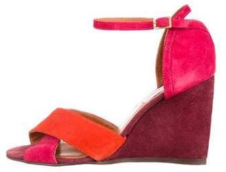 Lanvin Crossover Wedge Sandals