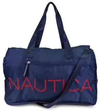 Nautica Packable Logo Script Duffel Bag