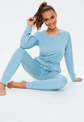 Missguided Blue Casual Loungewear Romper