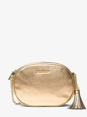 Michael Kors Ginny Medium Metallic Leather Crossbody