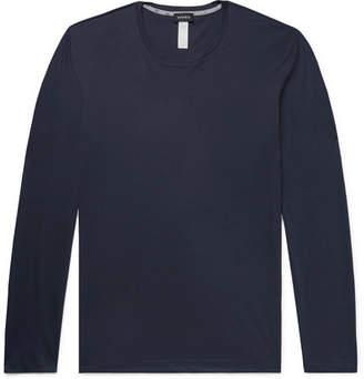 Hanro Printed Cotton-Jersey Pyjama Top - Men - Navy