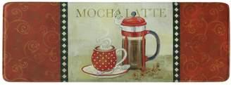 """Bacova French Duo """"Mocha Latte"""" Memory Foam Kitchen Rug Runner - 55"""" x 20"""""""