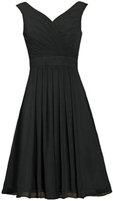 ANTS Women's Straps Chiffon Bridesmaid Dress Short Evening Gowns Size 20W US