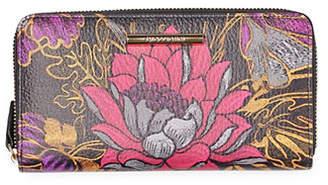 Braccialini Katia Zip Around Leather Wallet