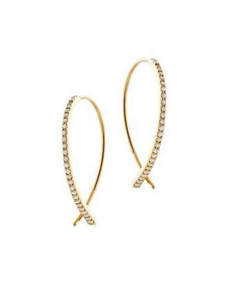 Lana Flawless Vol 6 Upside Down Diamond Hoop Earrings
