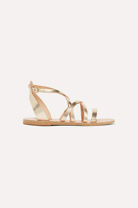 Ancient Greek Sandals Delia Metallic Leather Sandals - Gold