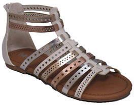 Mia Kaylee Metallic T-Strap Sandals