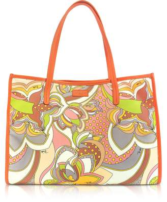 Emilio Pucci Sun Yellow Fabric Tote Bag