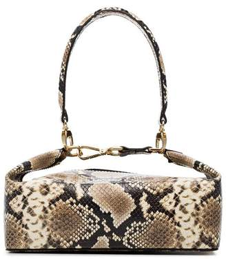 Rejina Pyo neutral Olivia snakeskin embossed leather box bag