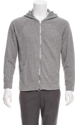 Theory Knit Zip-Up Hoodie