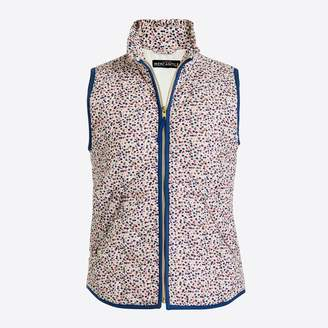 J.Crew Factory Printed ruffle puffer vest