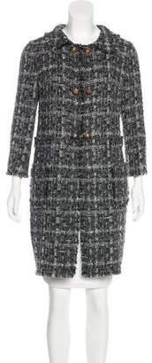 Dolce & Gabbana Fringe-Trimmed Tweed Coat